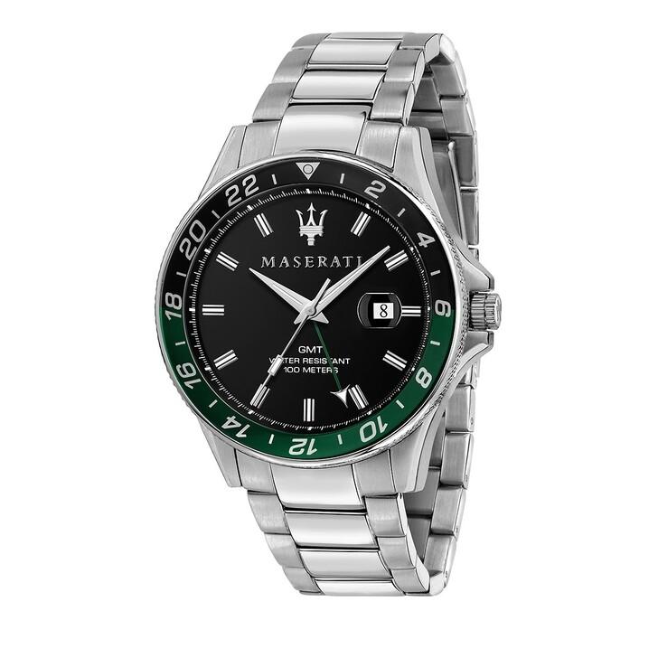 watches, Maserati, Sfida 44mm 3h  silver