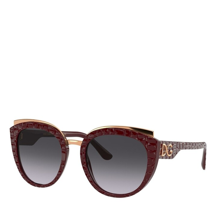 Sonnenbrille, Dolce&Gabbana, AZETAT WOMEN SONNE BORDEAUX TEXTURE COCCO