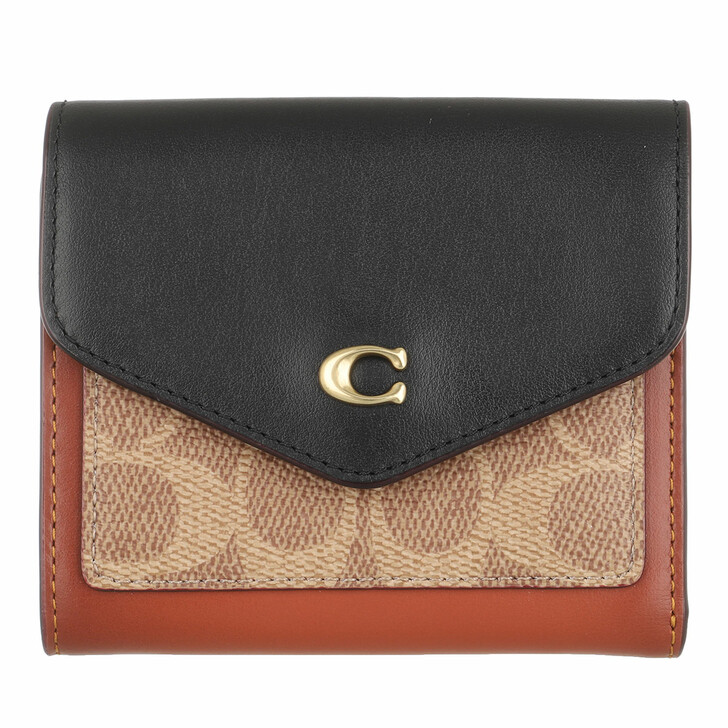 Geldbörse, Coach, Colorblock Coated Canvas Signature Wyn Small Walle Black