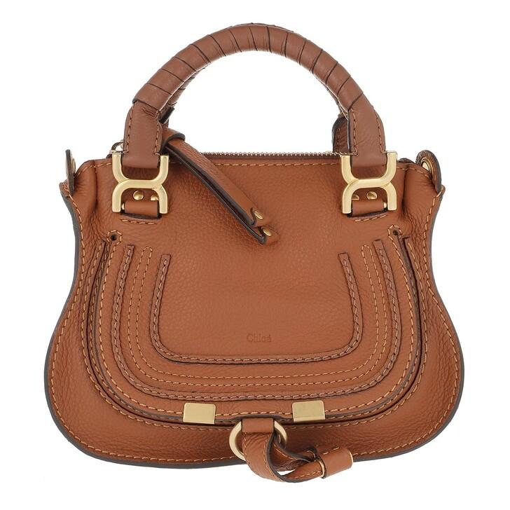 Handtasche, Chloé, Marcie Mini Crossbody Bag Tan