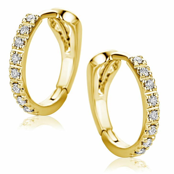 earrings, DIAMADA, Earrings 18ct With Diamonds Yellow Gold