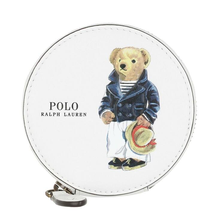 Geldbörse, Polo Ralph Lauren, Coin Purse Mini White Multi