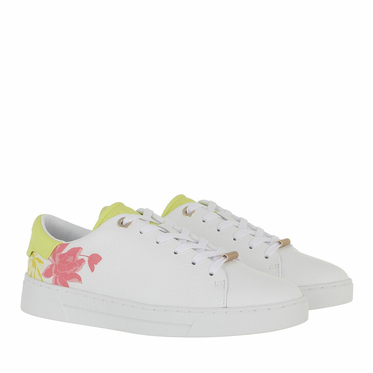 Schuh, Ted Baker, Keylie Sage Leather Cupsole Trainer White
