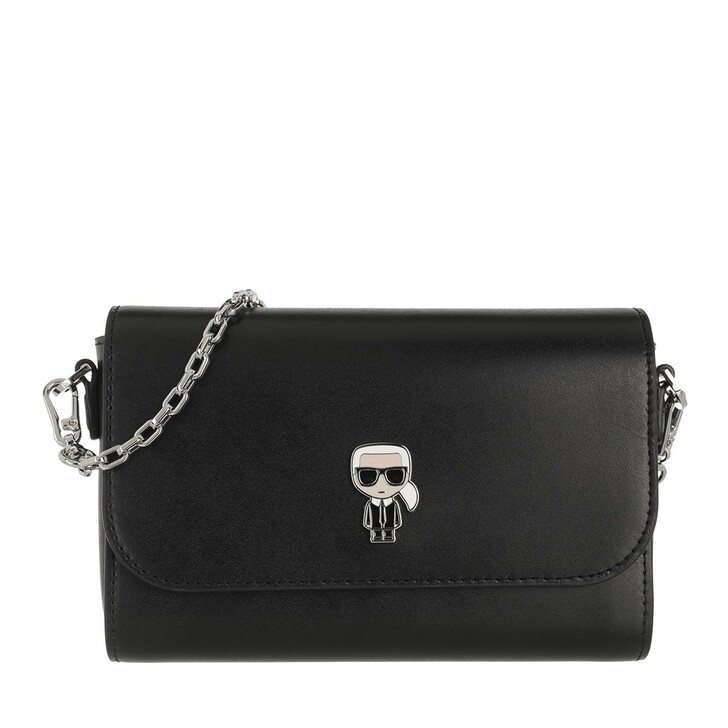 bags, Karl Lagerfeld, Ikonik Metal Pin Crossbody Black