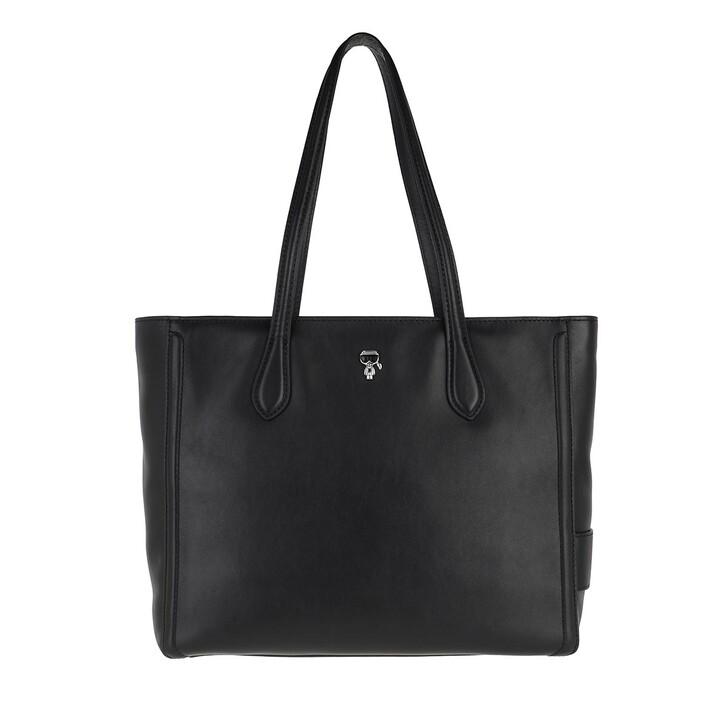 bags, Karl Lagerfeld, K/Ikonik 3d Pin Tote Black
