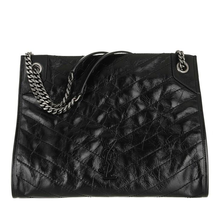 bags, Saint Laurent, Niki Tote Bag Leather  Black