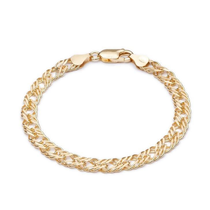 Armreif, Rachel Jackson London, Statement Chevron Chain Bracelet Yellow Gold