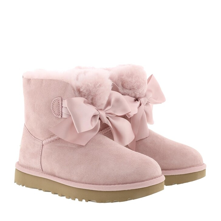 shoes, UGG, W Gita Bow Mini Pink Crystal