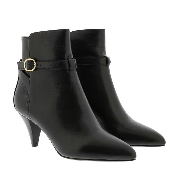 Schuh, Celine, Triangle Heel Jodhpur Ankle Boots Calfskin Black