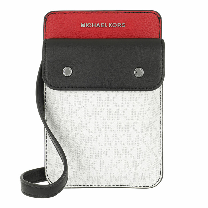 Handtasche, MICHAEL Michael Kors, Hybrid Tech Xbody Black/Red