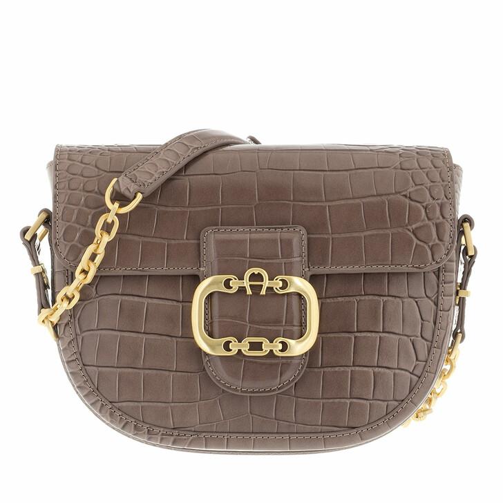 bags, AIGNER, Celia Crossbody Bag Mushroom Brown