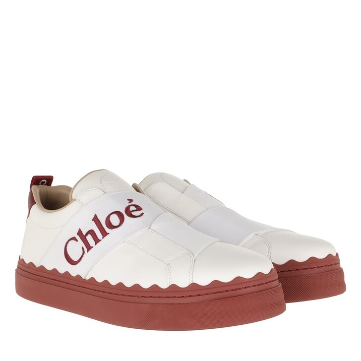 Schuh, Chloé, Sneaker With Strap Leather Dawn Red