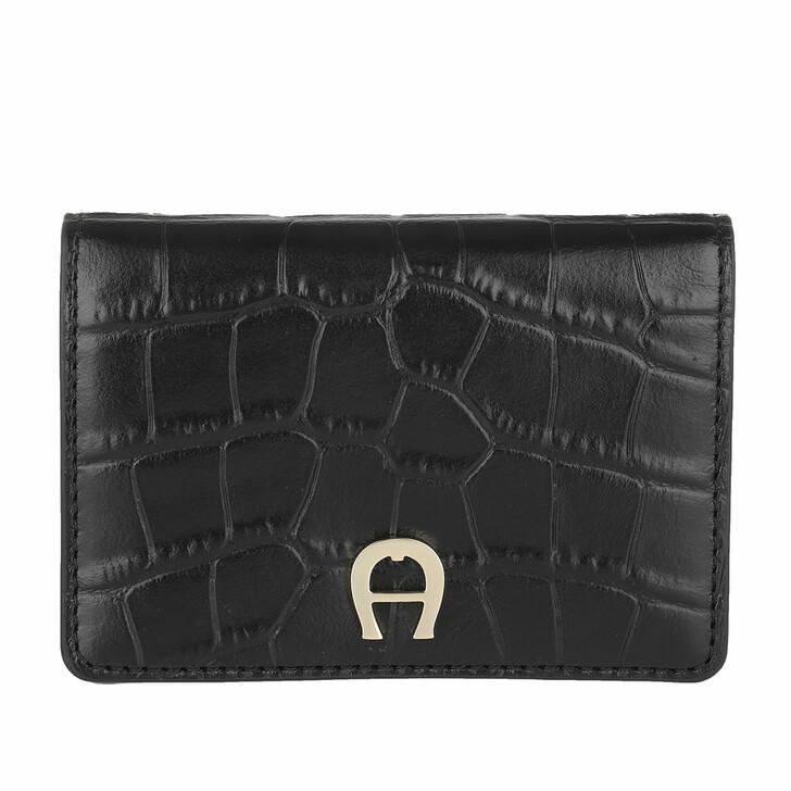 wallets, AIGNER, Card Holder   Black