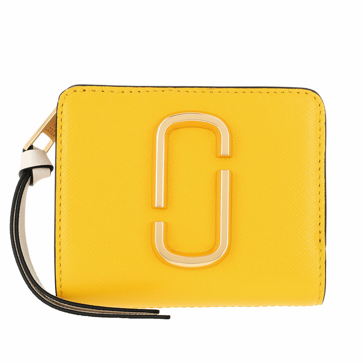 Geldbörse, Marc Jacobs, The Snapshot Mini Compact Wallet Plantain Multi