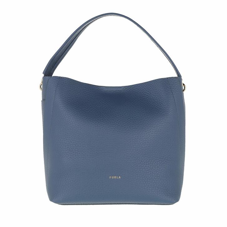 Handtasche, Furla, Grace Medium Hobo Blu Denim