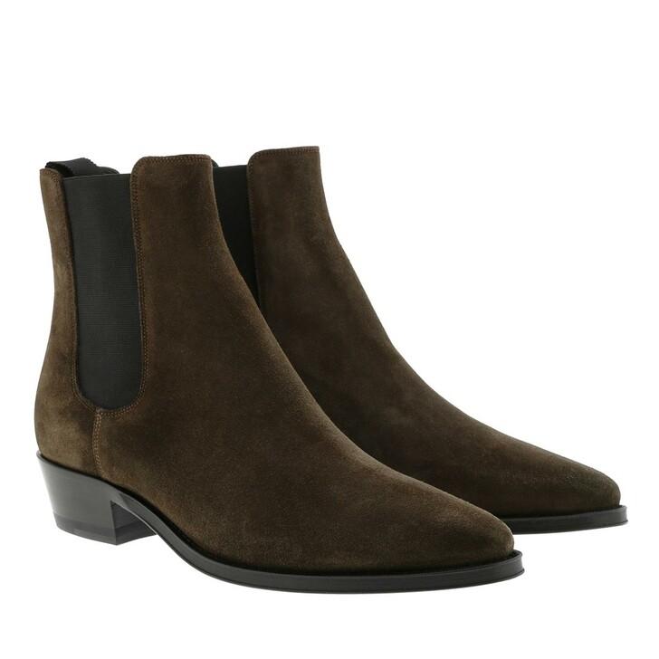 Schuh, Celine, Chelsea Ankle Boots Khaki