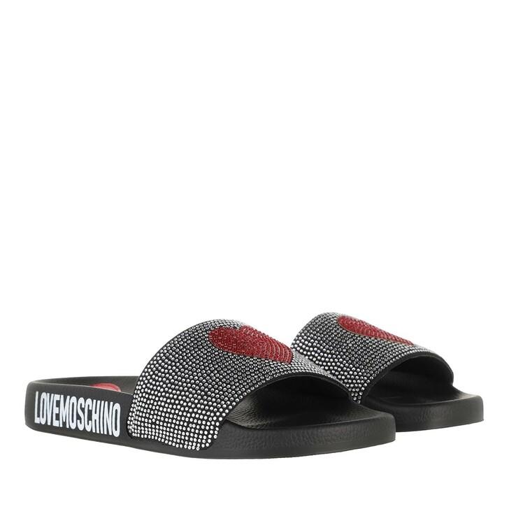 Schuh, Love Moschino, Sabotd Pool25 Grosgrain  Nero