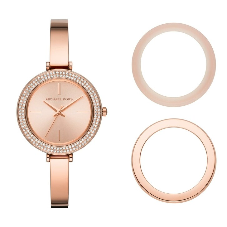watches, Michael Kors, Carey Three-Hand Stainless Steel Watch Roségold