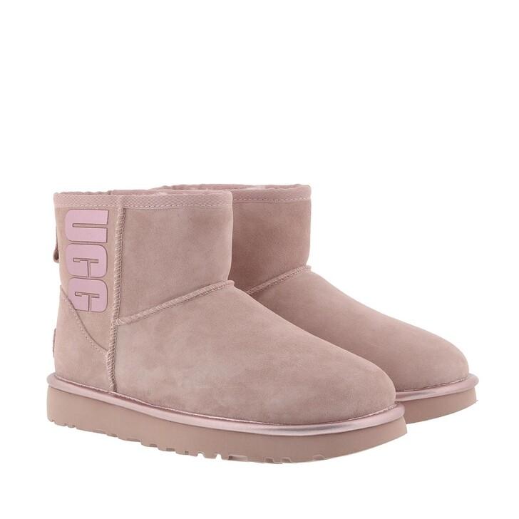 Schuh, UGG, W Classic Mini Rubber Logo Pink Crystal Metallic