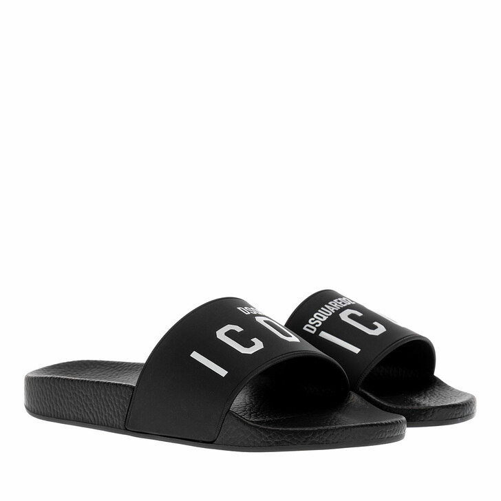 Schuh, Dsquared2, Icon Slide Sandals Black/White