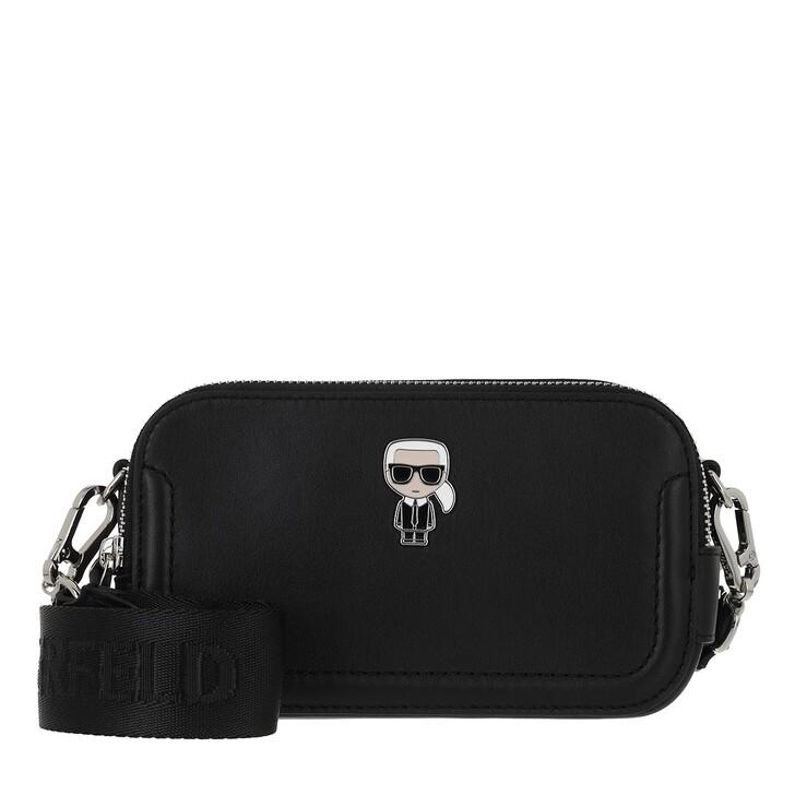 bags, Karl Lagerfeld, K/Ikonik Leather Camerabag A999 Black