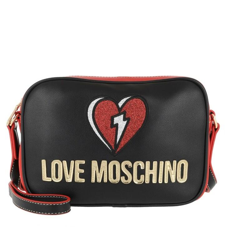 Handtasche, Love Moschino, Bag Nero/Rosso