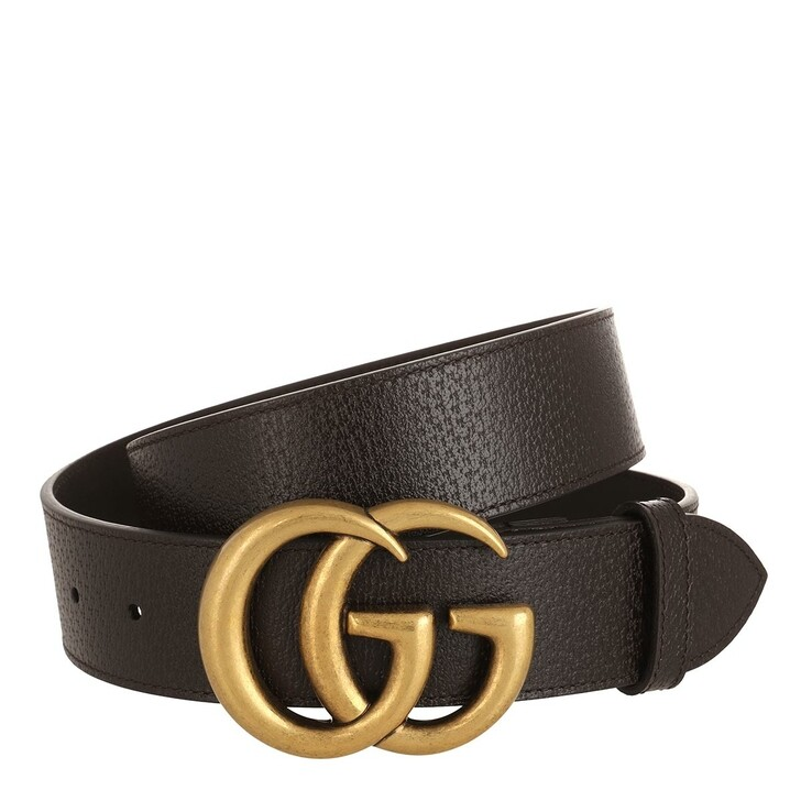 Gürtel, Gucci, GG Marmont Belt Leather Cocoa/Gold
