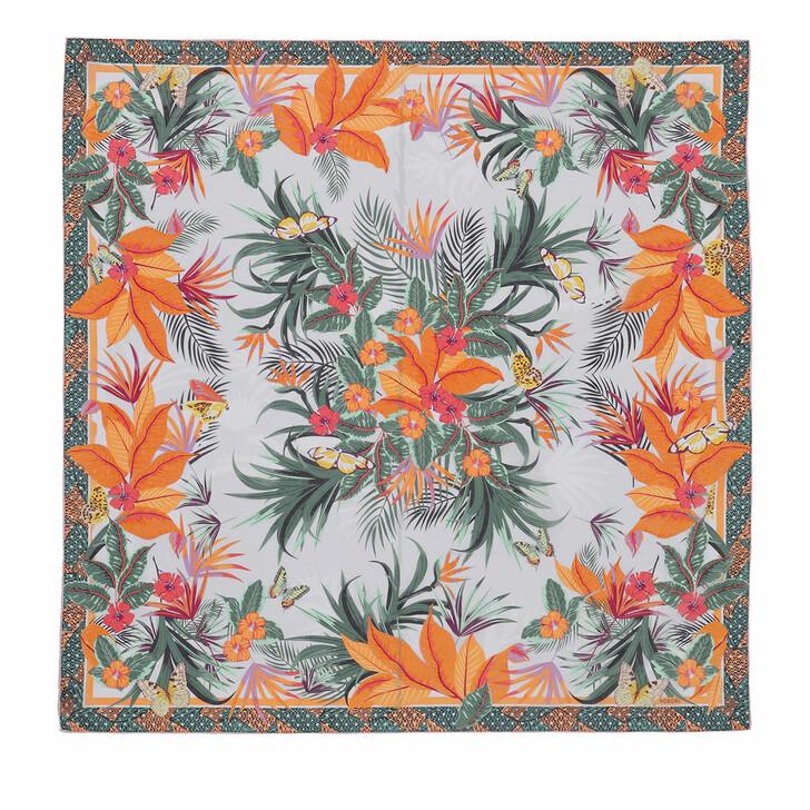 Schal, Roeckl, Tropical Flora Scarf 100x100 Multi Papaya