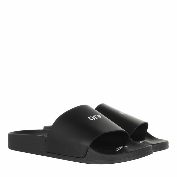 shoes, Off-White, Pool Slider  Black White