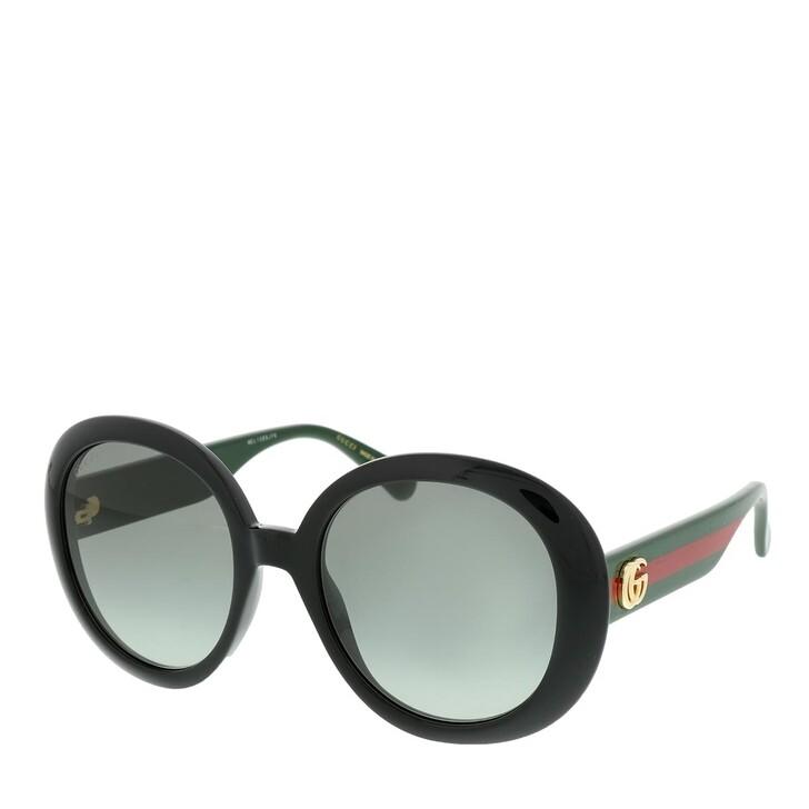 Sonnenbrille, Gucci, GG0712S-001 55 Sunglasses Black-Green-Grey