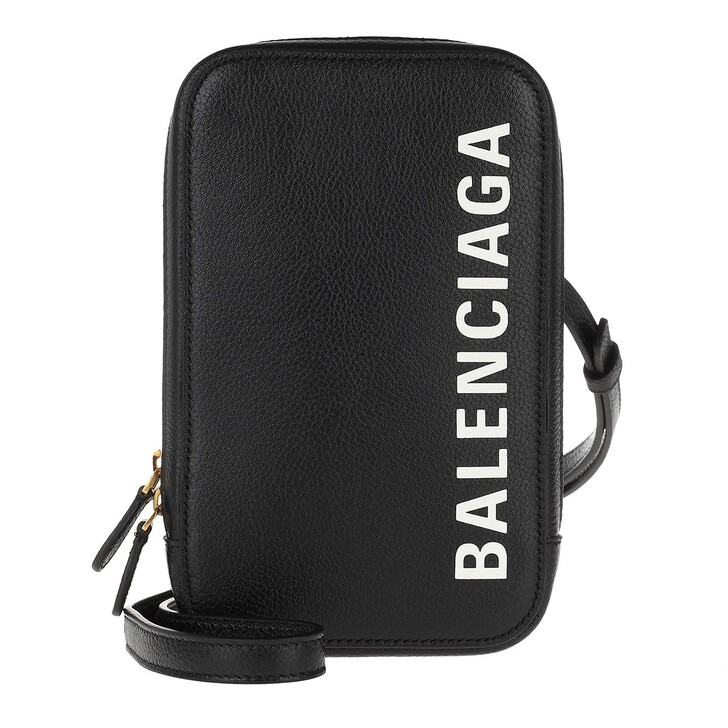 Smartphone/Tablet case (Case), Balenciaga, Cash Zip Phone Holder Black/White