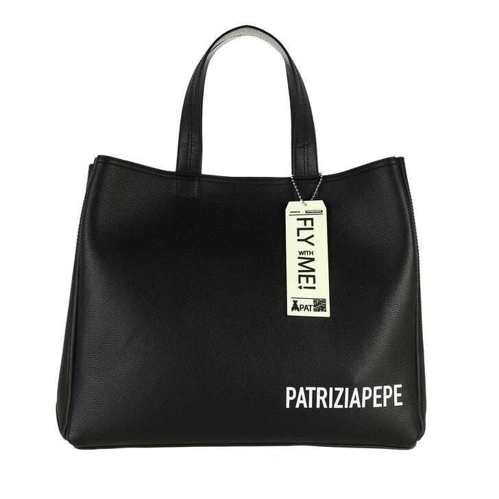 bags, Patrizia Pepe, Tote Bag Nero