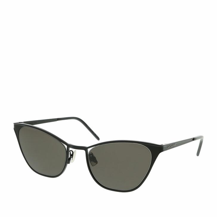 sunglasses, Saint Laurent, SL 409-002 55 Sunglass WOMAN METAL Black