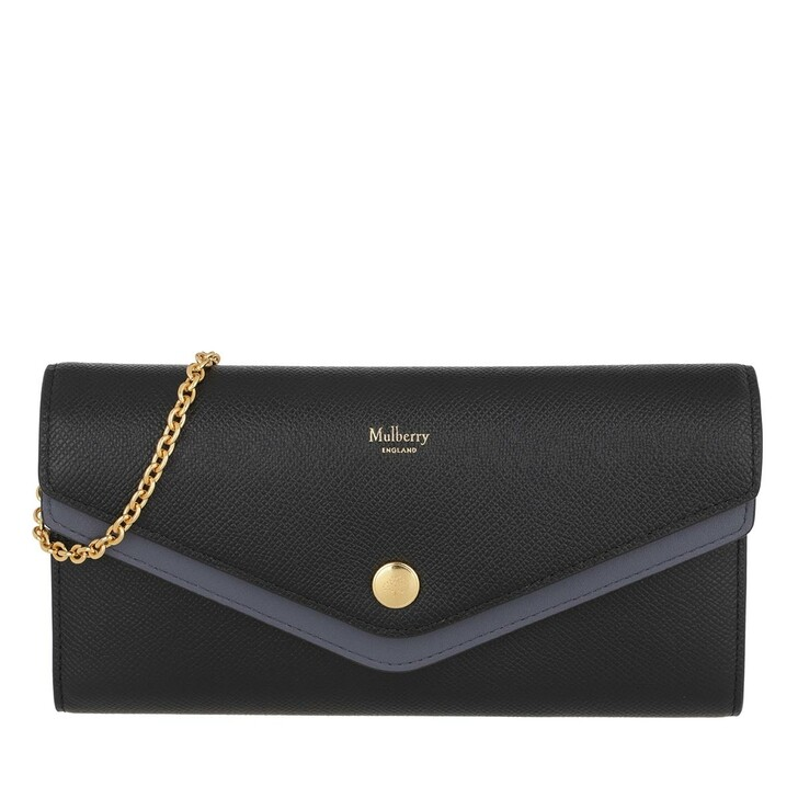 Handtasche, Mulberry, Wallet On Chain Leather Black