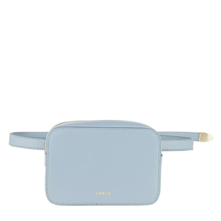 Gürteltasche, Furla, Block Mini Belt Bag Avio Light Grey
