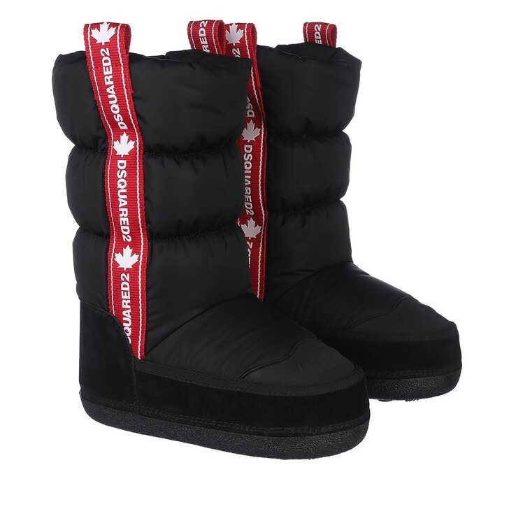 shoes, Dsquared2, Logo Snow Boots Black/Red