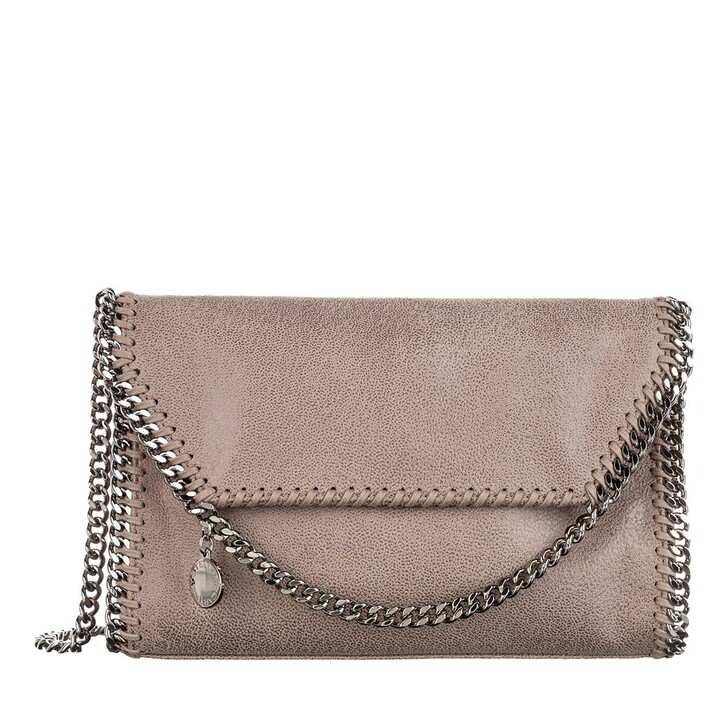 Handtasche, Stella McCartney, Falabella Shaggy Deer Mini Shoulder Bag Smoke