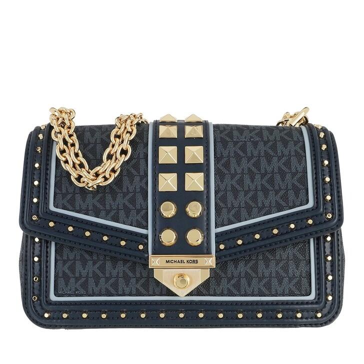 Handtasche, MICHAEL Michael Kors, Large Frameout Chain Bag Admiral/Paleblue