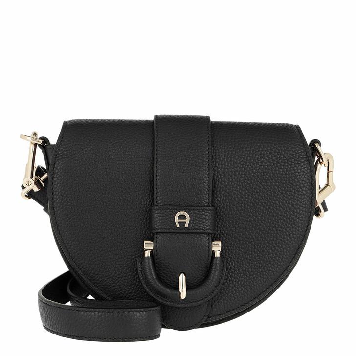 Handtasche, AIGNER, Mini Bag   Black