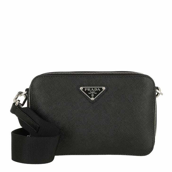 Handtasche, Prada, Logo Camera Bag Black