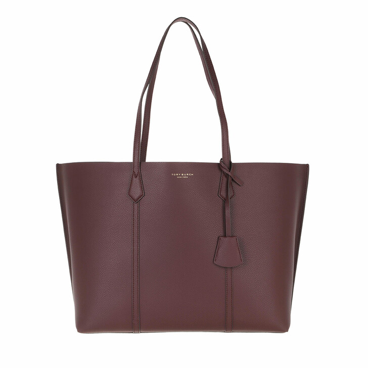 bags, Tory Burch, Perry Triple-Compartment Tote Dark Rhubarb