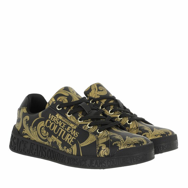 Schuh, Versace Jeans Couture, Linea Fondo Penny Sneaker Black Gold