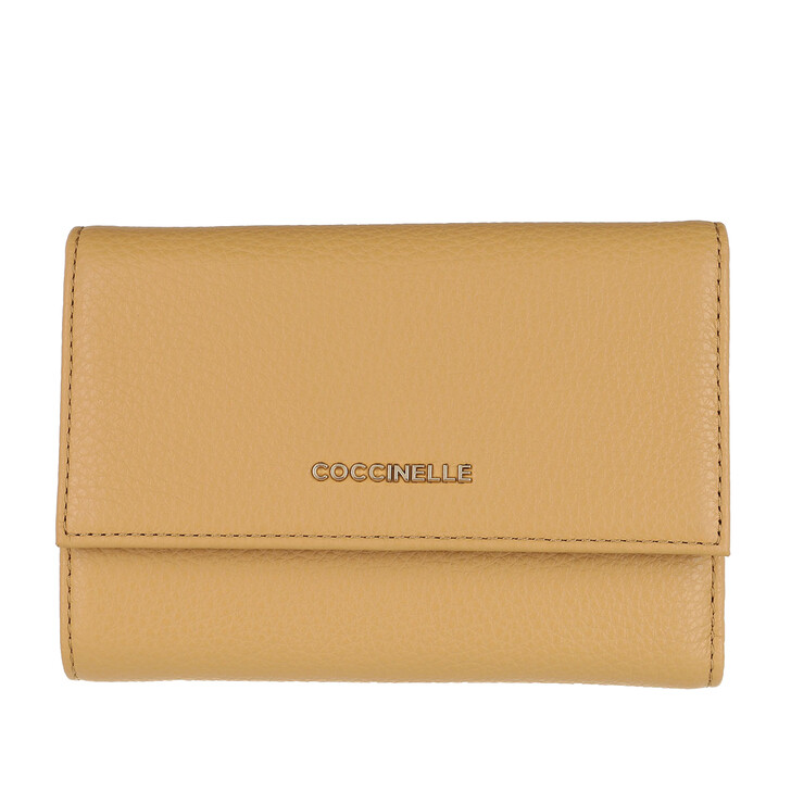 Geldbörse, Coccinelle, Wallet Grainy Leather Warm Beige