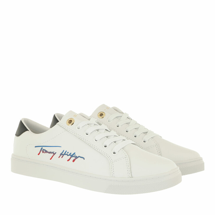 Schuh, Tommy Hilfiger, TH Signature Cupsole Sneakers White