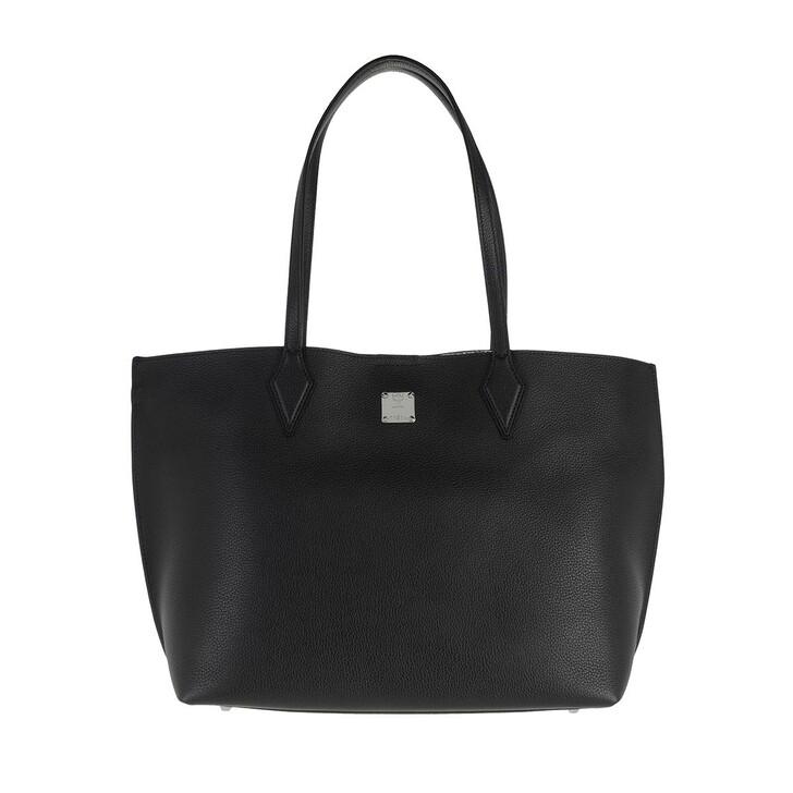bags, MCM, Yris Shopper Medium Black