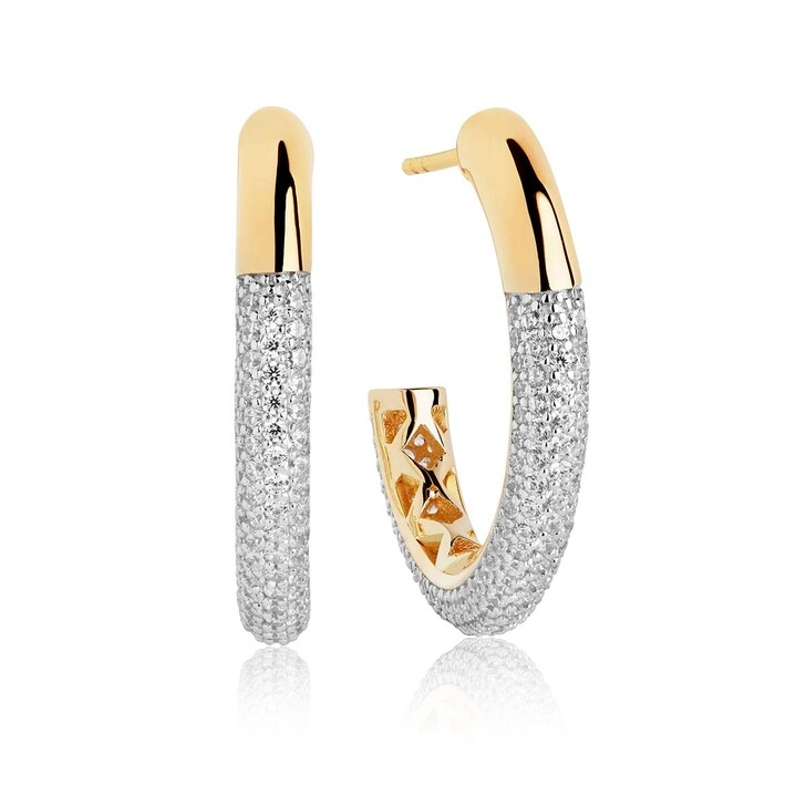 Ohrring, Sif Jakobs Jewellery, Cannara Grande Earrings White Zirconia 18K Gold Plated