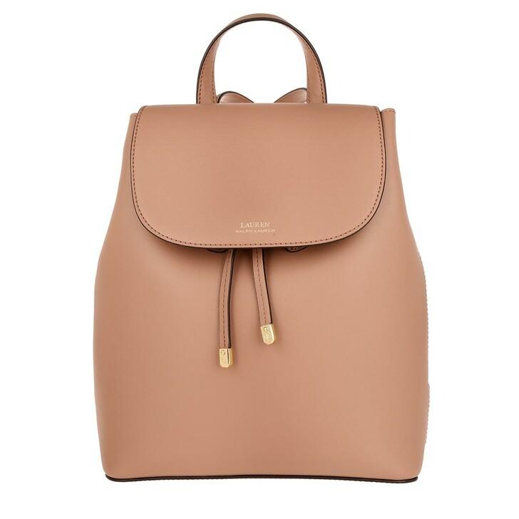 bags, Lauren Ralph Lauren, Flap Backpack Medium Nude