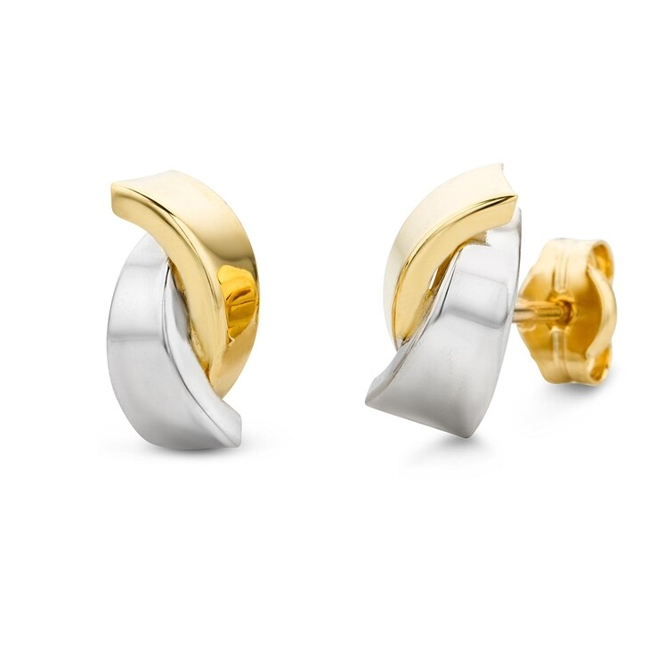Ohrring, DIAMADA, Earring 14KT Bi Color Gold