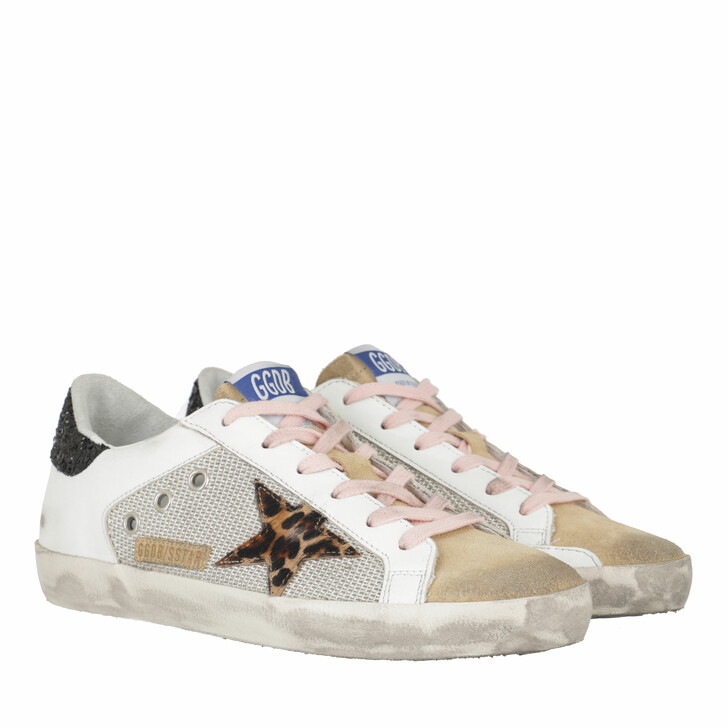 shoes, Golden Goose, Low Top Superstar Sneakers Silver/White