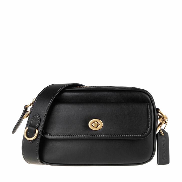 bags, Coach, Glovetanned Leather Convertible Waist Pack Black